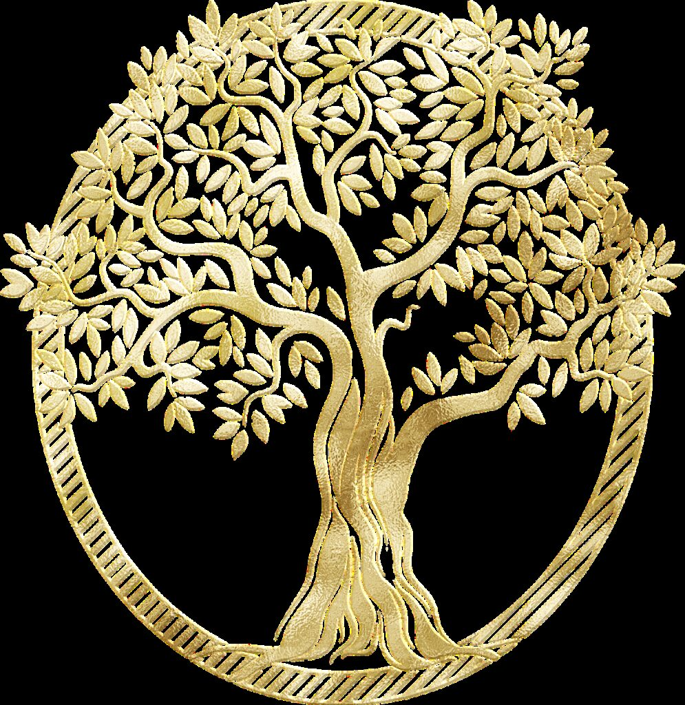 gold foil tree of life, tree, frame